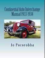 Continental Auto Interchange Manual 1933-1934