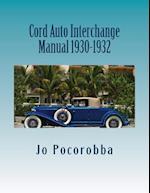 Cord Auto Interchange Manual 1930-1932