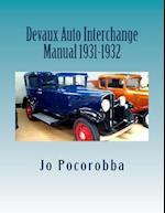 Devaux Auto Interchange Manual 1931-1932