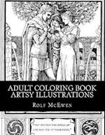 Adult Coloring Book - Artsy Illustrations