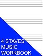 4 Staves Music Workbook