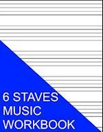 6 Staves Music Workbook