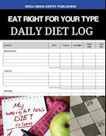 Eat Right for Your Type Daily Diet Log