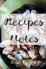 Recipes & Notes Blank Cookbook