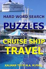 Hard Word Search Puzzles for Cruise Ship Travel