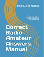 Correct Radio Amateur Answers Manual
