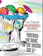 Ice Cream Inspiring Words Coloring Book