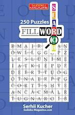 Fillword - 250 Word Search Puzzles 9x9