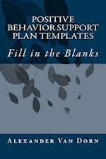 Positive Behavior Support Plan Templates