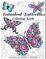 Botanical Butterflies Coloring Book
