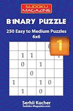 Binary Puzzle - 250 Easy to Medium Puzzles 6x6
