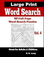 Large Print Word Search, Volume 4