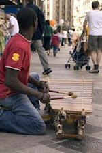 Busker Playing a Balaphone (African Xylophone) Journal