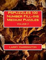 Pspuzzles 100 Number Fill-Ins Medium Puzzles Volume 2