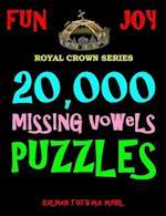 20,000 Missing Vowels Puzzles