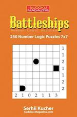 Battleships - 250 Number Logic Puzzles 7x7