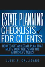 Estate Planning Checklists for Clients