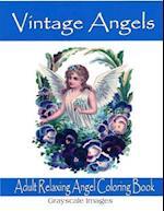 Vintage Angels Adult Coloring Book