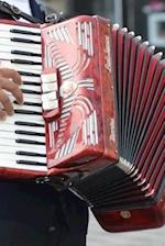 A Vintage Red and White Accordion Journal