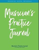 Musician's Practice Journal (Green/Blue Stripe Edition)