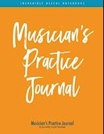 Musician's Practice Journal (Orange/Blue Stripe Edition)