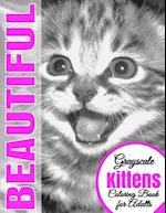 Beautiful Grayscale Kittens Adult Coloring Book
