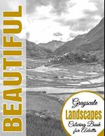 Beautiful Grayscale Landscapes Adult Coloring Book