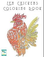 Zen Chickens Adult Coloring Book