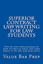 Superior Contract Law Writing for Law Students