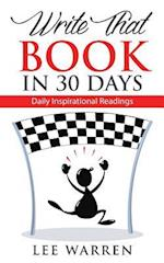 Write That Book in 30 Days