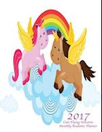 2017 Cute Flying Unicorns Monthly Academic Planner