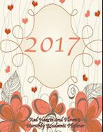 2017 Red Hearts and Flowers Monthly Academic Planner