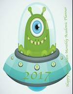 2017 Happy Green Alien Monthly Academic Planner