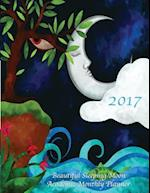2017 Beautiful Sleeping Moon Academic Monthly Planner