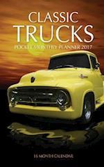 Classic Trucks Pocket Monthly Planner 2017