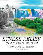 Stress Relief Coloring Books Grayscale Landscape for Adults Volume 2