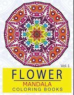 Flower Mandala Coloring Books Volume 1