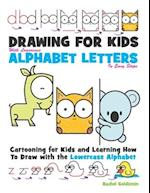 Drawing for Kids with Lowercase Alphabet Letters in Easy Steps