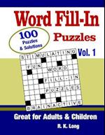 Word Fill-In Puzzles, Volume 1 af R. K. Long