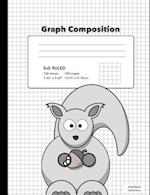 Cute Squirrel Graph Composition Book 5x5