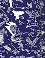 Beautiful Blue & White Birds Fly Free 2017 Monthly Planner
