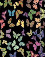 Beautiful Rainbow Butterflies 2017 Monthly Planner