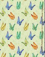 Beautiful Rainbow Butterflies 2017 Monthly Planner Organizer