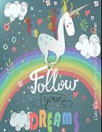 Cute Unicorn Rainbow 2017 Monthly Planner