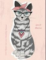 Cute Hipster Cat 2017 Monthly Planner