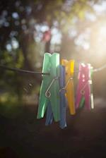 Clothes Pins on a Clothesline Journal