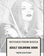 Witches from Wicca Adult Coloring Book