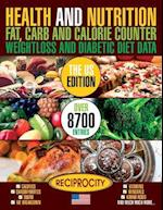 Health and Nutrition Fat Carb & Calorie Counter Weight Loss and Diabetic Diet Da