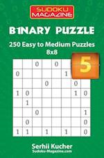 Binary Puzzle - 250 Easy to Medium Puzzles 8x8