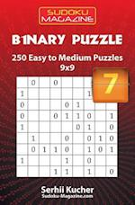 Binary Puzzle - 250 Easy to Medium Puzzles 9x9